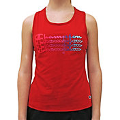 Champion Girls' Ombre Stacked Scripted Tank Top
