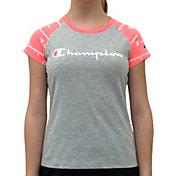 Champion Girls' Printed Raglan T-Shirt