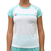 Champion Girls' Printed Raglan T-Shirt