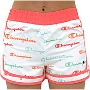 Champion Girls' Varsity Script Printed Shorts