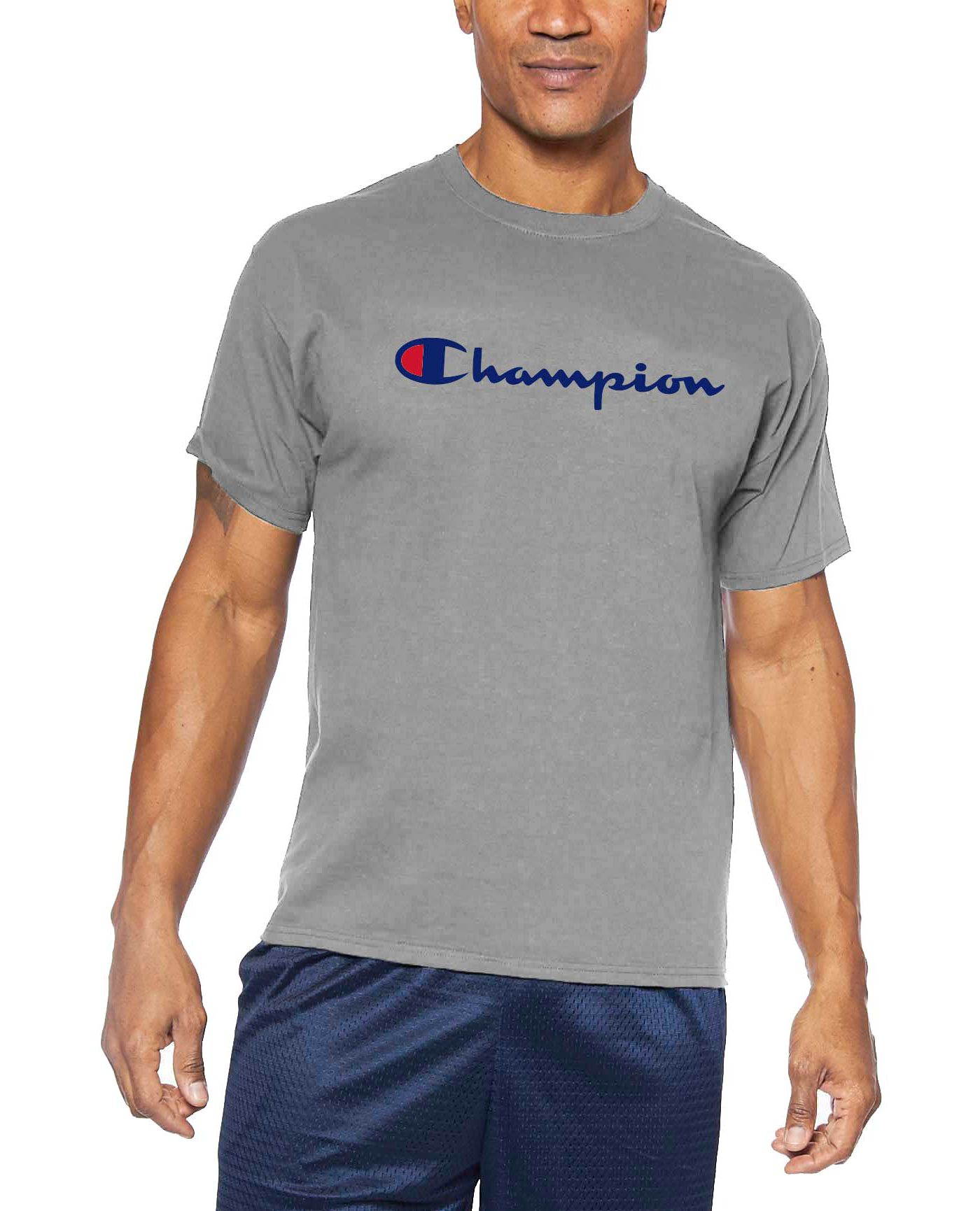 Champion Men's Big & Tall Script Graphic Tee (Regular and Big & Tall)