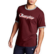 Champion Men's Classic Jersey Ringer Multi-Color Shadow Logo Graphic T-Shirt
