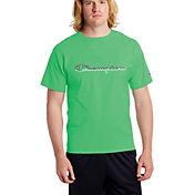 Champion Men's Classic Jersey Script Outline Logo T-Shirt