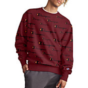 Champion Life Men's Reverse Weave All Over Logo Crewneck Sweatshirt