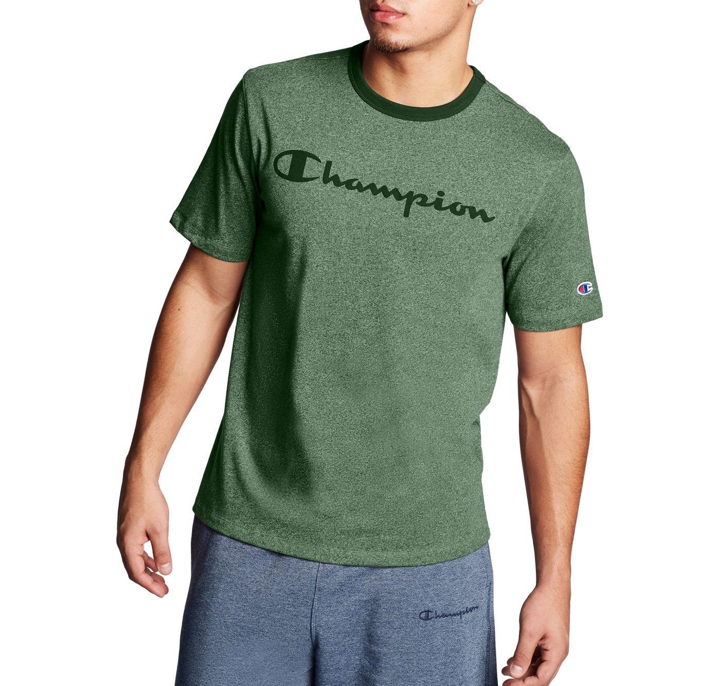 Champion Men's Heritage Heather Script Logo Graphic T-Shirt