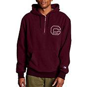 Champion Men's Heritage Sherpa Felt Block C Logo ¼ Zip Hoodie