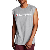 Champion Men's Classic Jersey Script Logo Graphic Muscle Tank Top