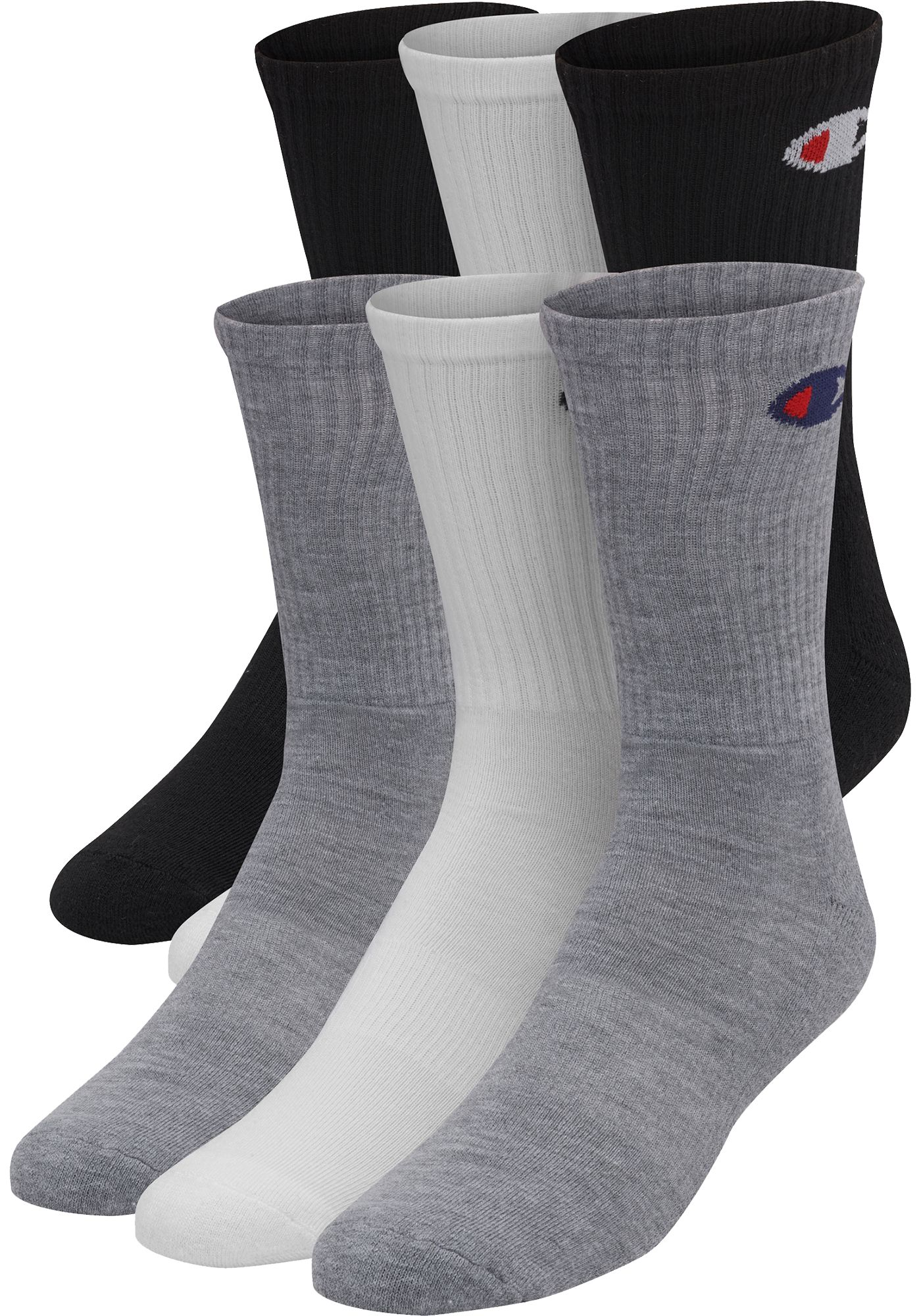 Champion Men's Crew Socks - 6 Pack