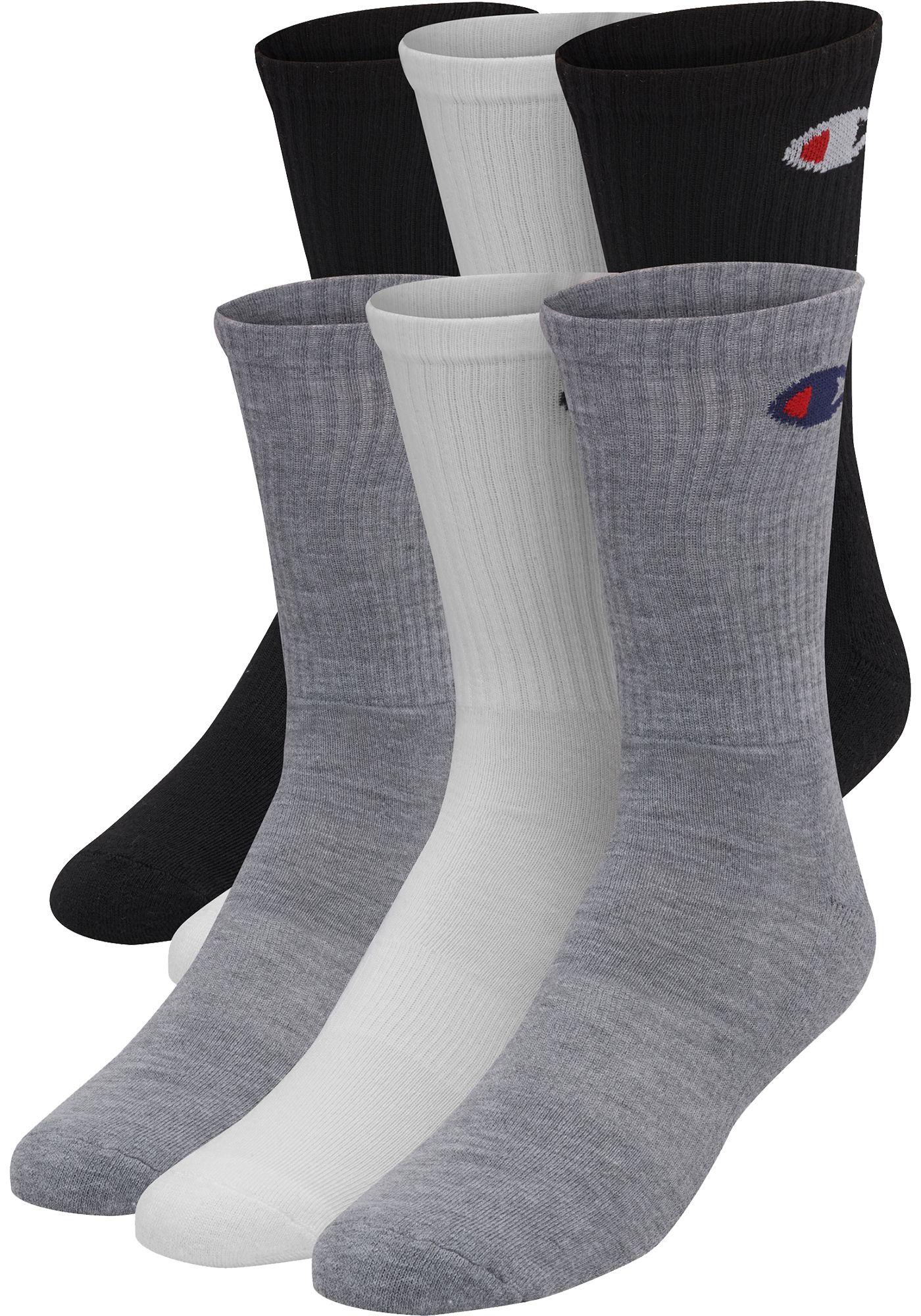 Champion Men's Crew Socks 6 Pack