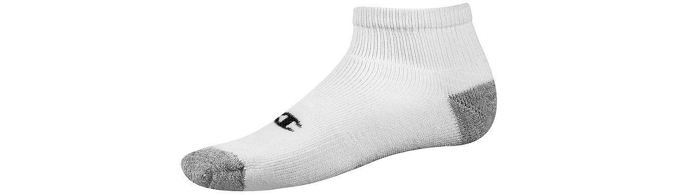 Champion Men's Double Dry Performance Quarter Socks 6 Pack