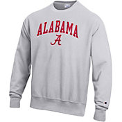 Champion Men's Alabama Crimson Tide Grey Reverse Weave Crew Sweatshirt
