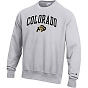 Champion Men's Colorado Buffaloes Grey Reverse Weave Crew Sweatshirt