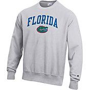 Champion Men's Florida Gators Grey Reverse Weave Crew Sweatshirt