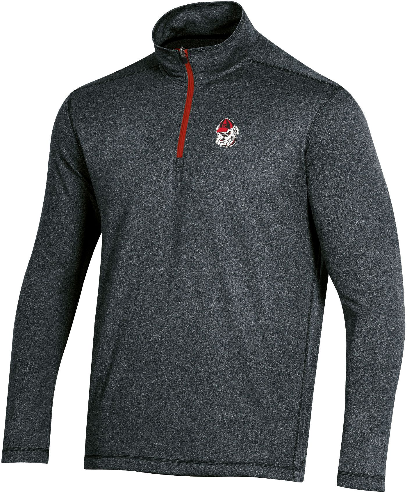 Champion Men's Georgia Bulldogs Quarter-Zip Performance Black Shirt