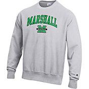 Champion Men's Marshall Thundering Herd Grey Reverse Weave Crew Sweatshirt