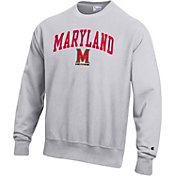 Champion Men's Maryland Terrapins Grey Reverse Weave Crew Sweatshirt