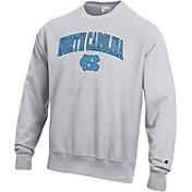 Champion Men's North Carolina Tar Heels Grey Reverse Weave Crew Sweatshirt