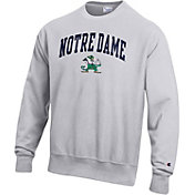Champion Men's Notre Dame Fighting Irish Grey Reverse Weave Crew Sweatshirt