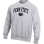 Champion Men's Penn State Nittany Lions Grey Reverse Weave Crew Sweatshirt