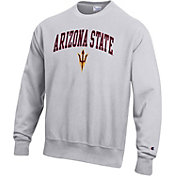 Champion Men's Arizona State Sun Devils Grey Reverse Weave Crew Sweatshirt