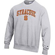 Champion Men's Syracuse Orange Grey Reverse Weave Crew Sweatshirt
