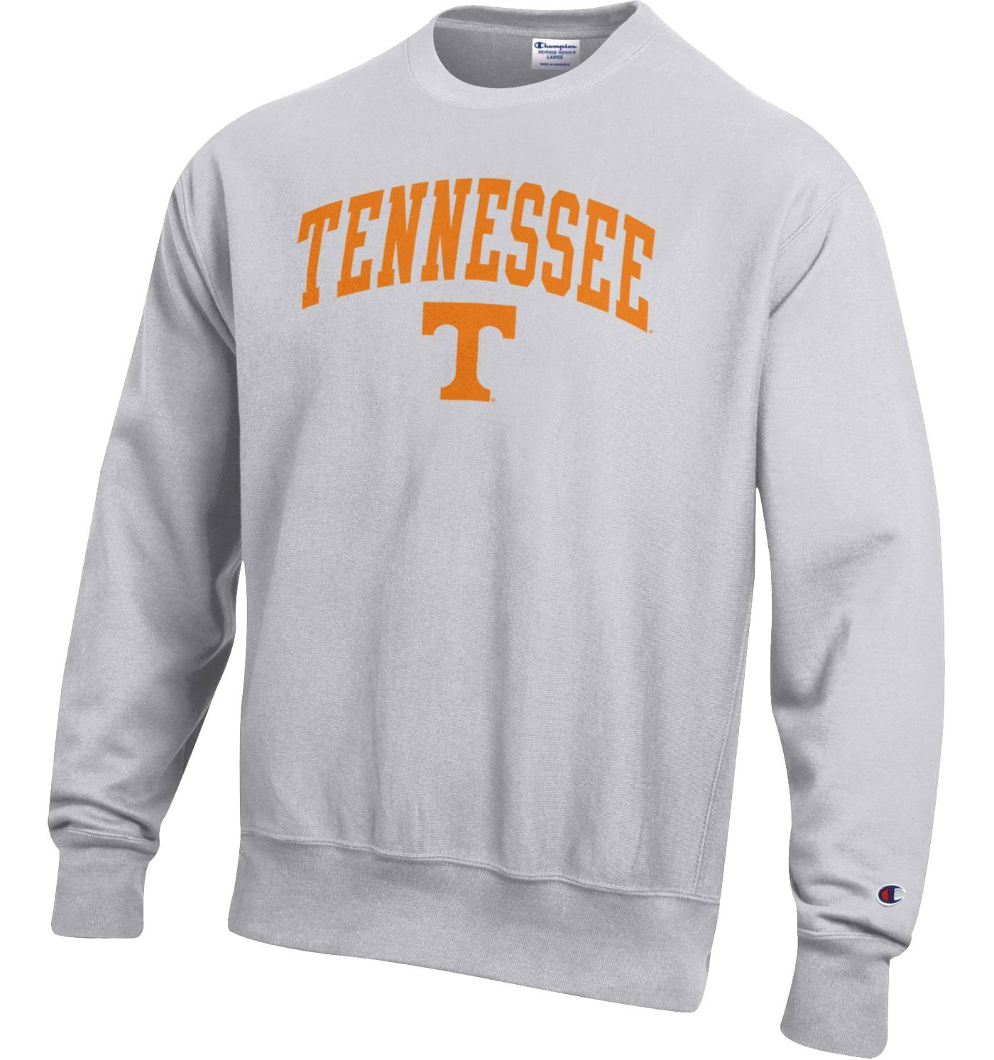 Champion Men's Tennessee Volunteers Grey Reverse Weave Crew Sweatshirt