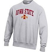 Champion Men's Iowa State Cyclones Grey Reverse Weave Crew Sweatshirt