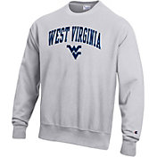 Champion Men's West Virginia Mountaineers Grey Reverse Weave Crew Sweatshirt