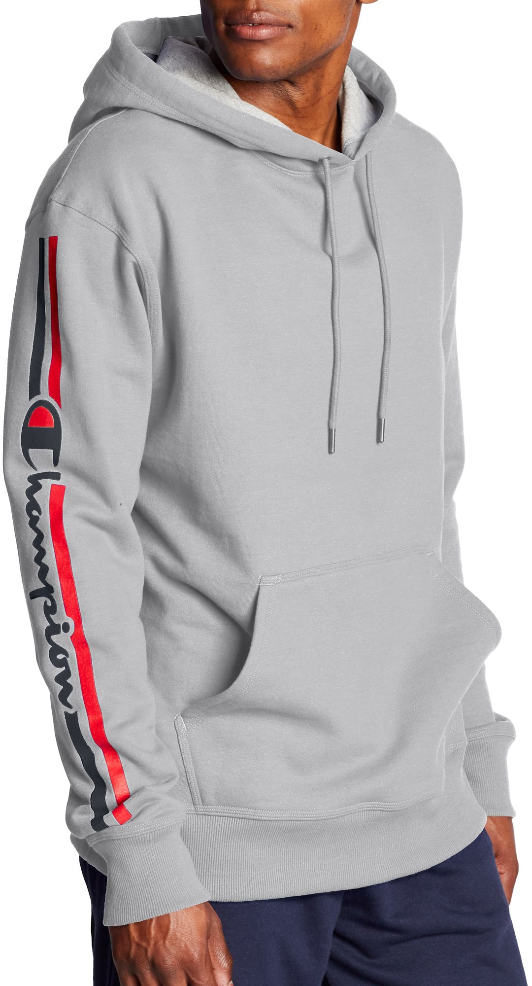 10a47ea16 Champion Men's Powerblend Vertical Script Logo Pullover Hoodie