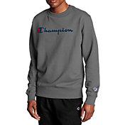 Champion Men's Powerblend Fleece Script Logo Crewneck Sweatshirt