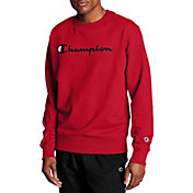 Champion Men's Powerblend Fleece Script Logo Crewneck Sweatshirt
