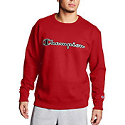 Champion Men's Powerblend Fleece Script Logo Applique Crewneck Sweatshirt