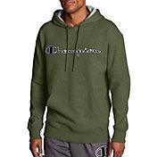 Champion Men's Powerblend Fleece Chainstitch Outline Script Logo Hoodie