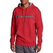 Champion Men's Powerblend Fleece Chainstitch Outline Script Logo Hoodie