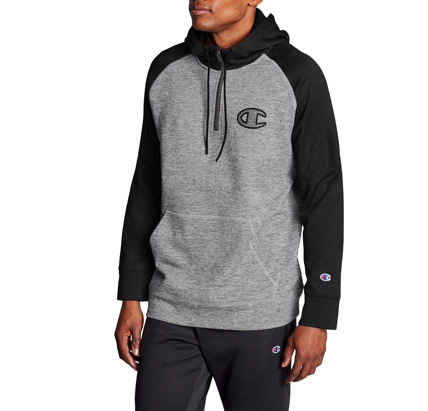 Champion Men's Stadium Fleece ¼ Zip Pullover Hoodie