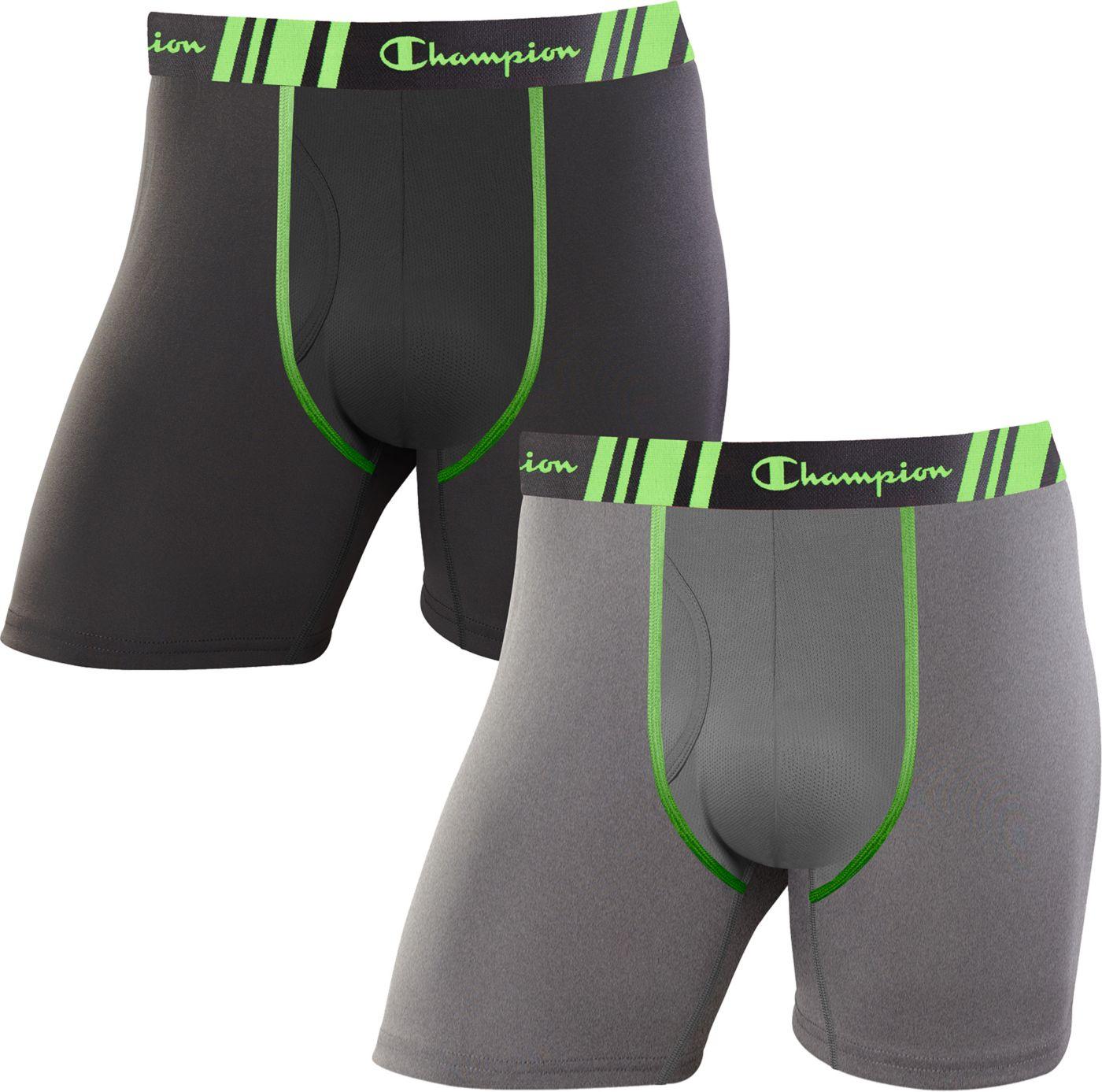 Champion Men's Tech Performance Regular Leg Boxer Briefs – 2 Pack