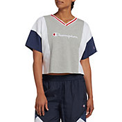 Champion Women's Colorblock Cropped T-Shirt