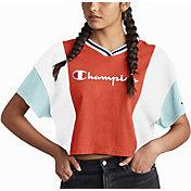 Champion Women's Colorblock Cropped T-Shirt