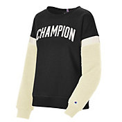 Champion Women's Heritage Sherpa  Block Crew Pullover