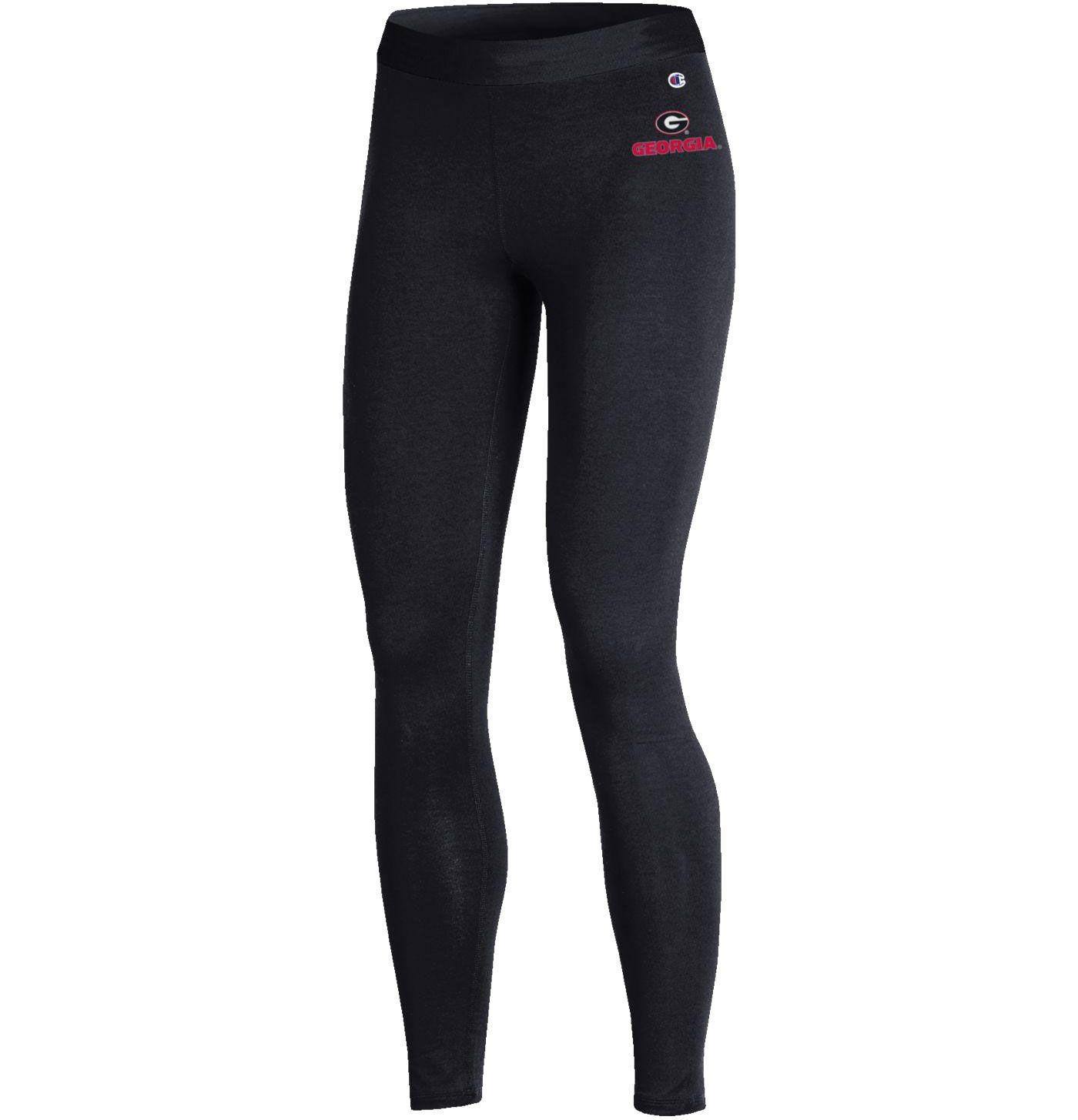 Champion Women's Georgia Bulldogs Performance Black Leggings