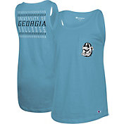 Champion Women's Georgia Bulldogs Blue Breezy Tank Top