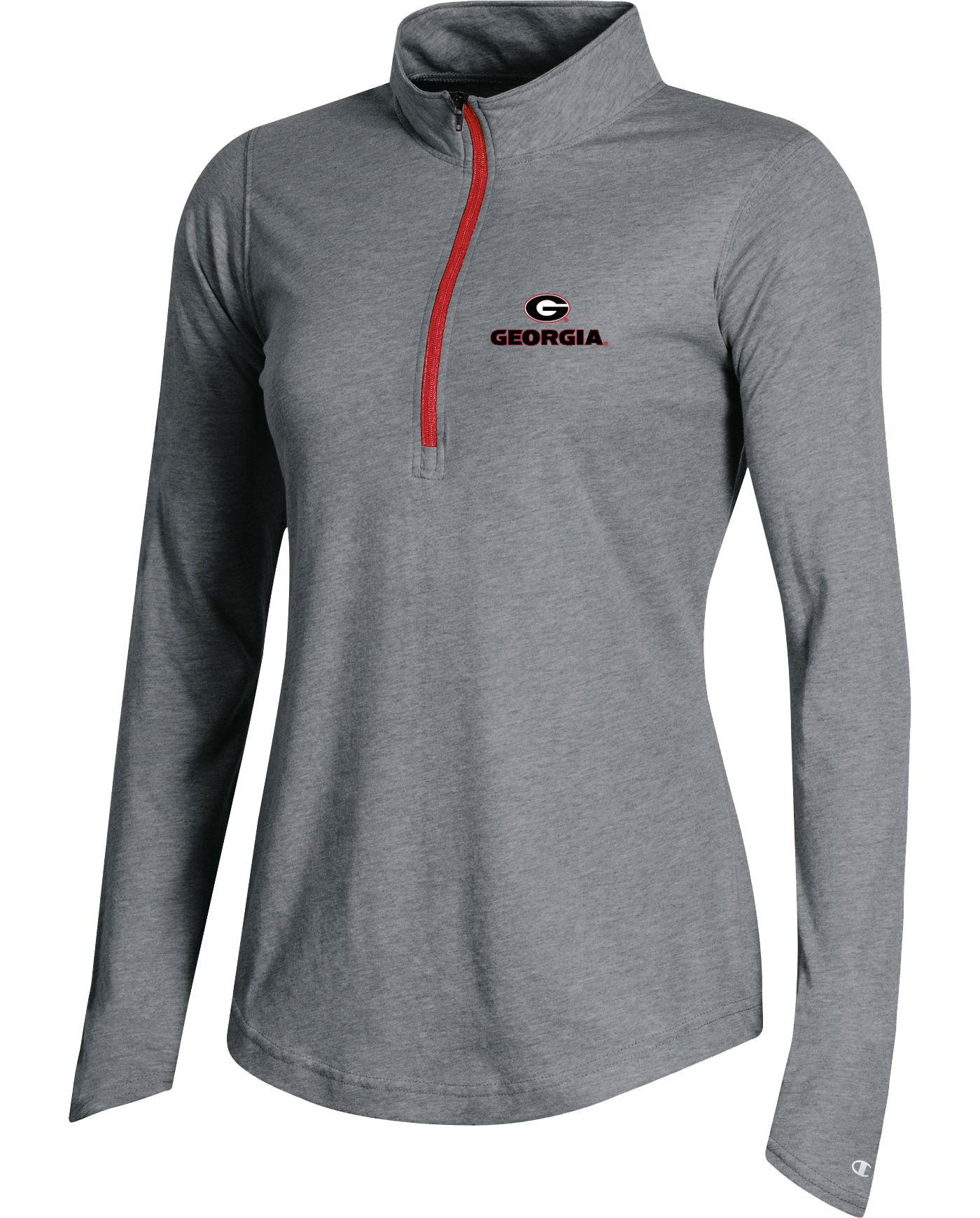 Champion Women's Georgia Bulldogs Grey Quarter-Zip Performance Shirt