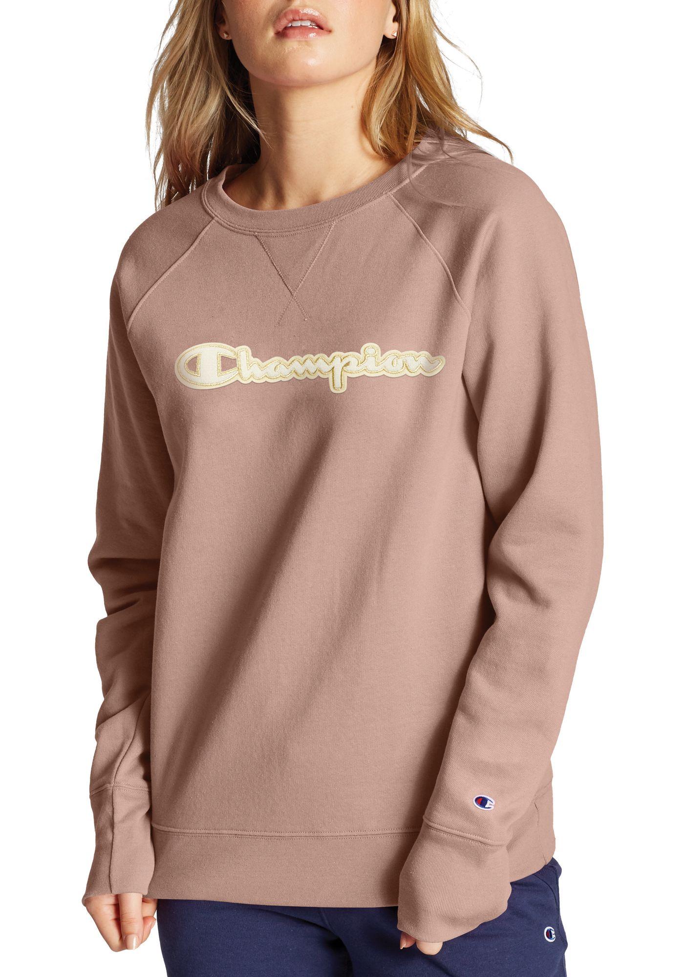 Champion Women's Applique Boyfriend Crew Top