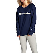 Champion Women's Applique Boyfriend Crew Top