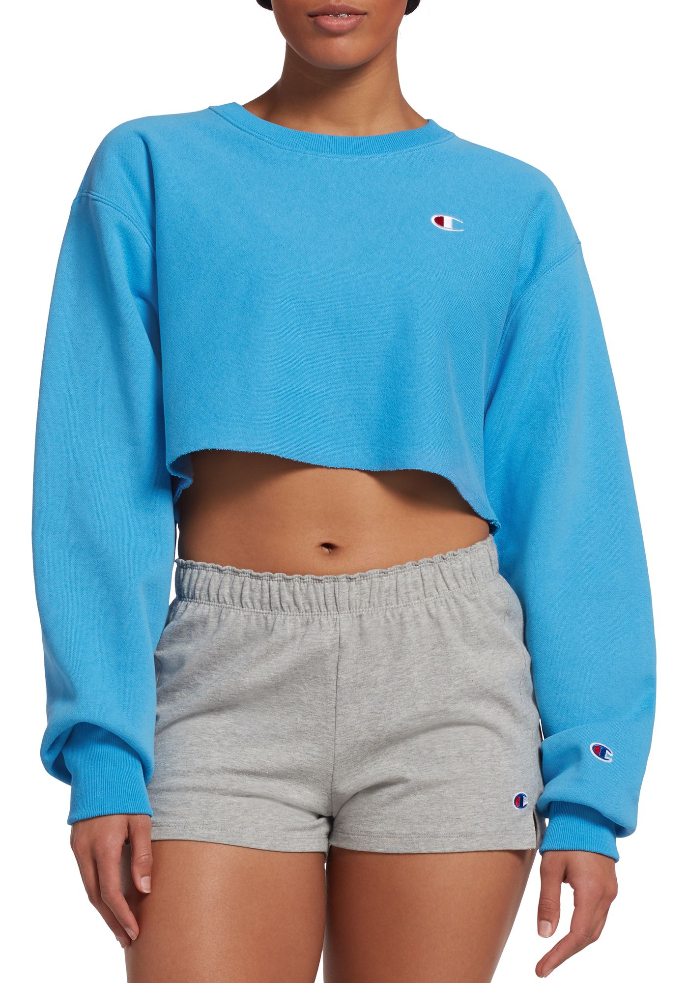 Champion Women's Cropped Cut-Off Crew Top