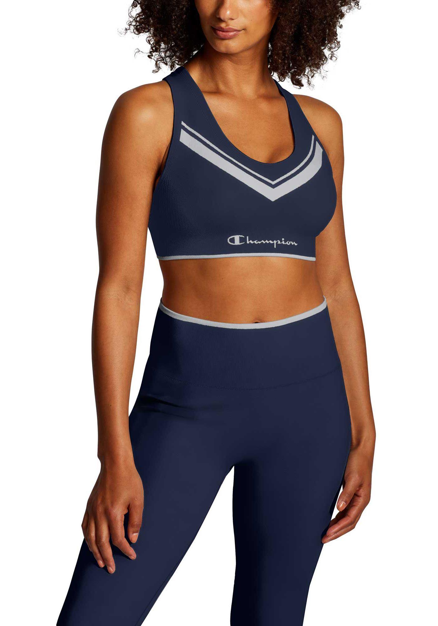 Champion Women's Sweatshirt Chevron Racerback Sports Bra