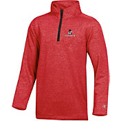 Champion Youth Georgia Bulldogs Red Quarter-Zip Performance Shirt