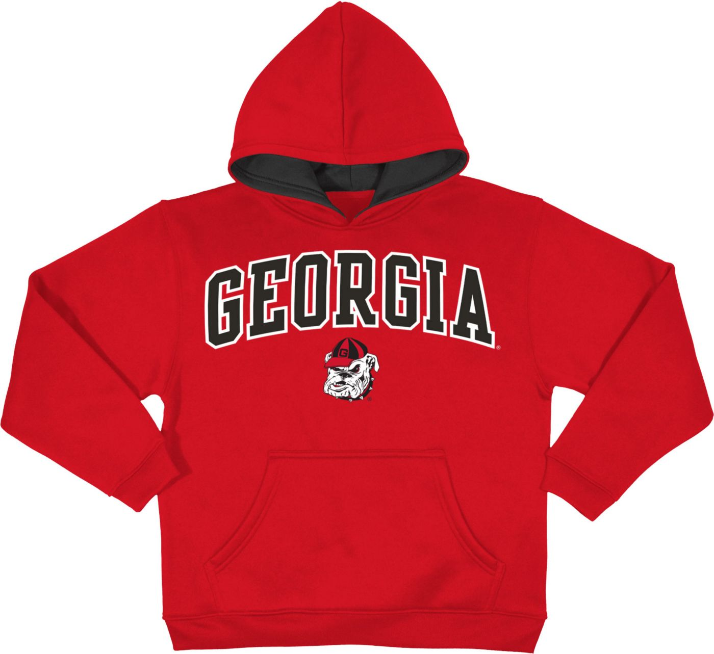 Champion Youth Georgia Bulldogs Red Pullover Hoodie