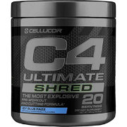 Cellucor C4 Ultimate Shred Pre-Workout Icy Blue Razz 20 Servings