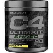 Cellucor C4 Ultimate Shred Pre-Workout Lemon Italian Ice 20 Servings